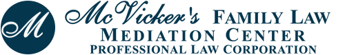 McVicker's Family Law Mediation Center, Professional Law Corporation Header Logo